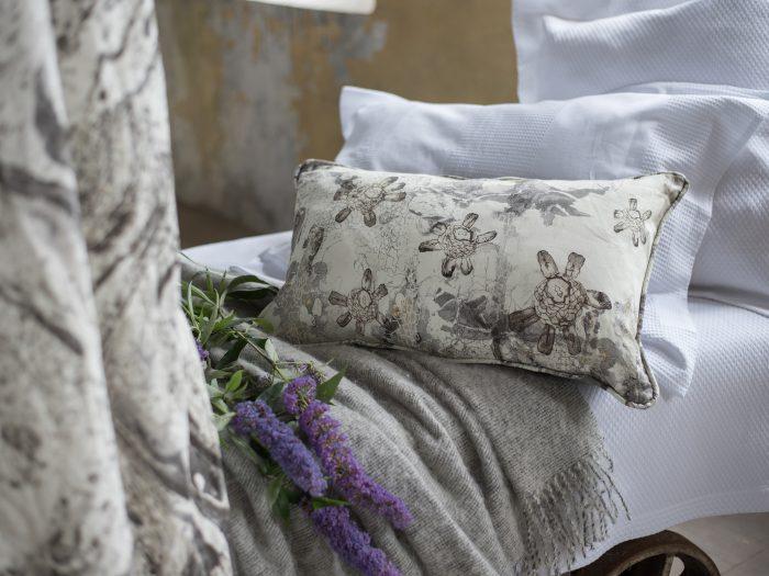 Airmid Cushion in Stone at William Clark