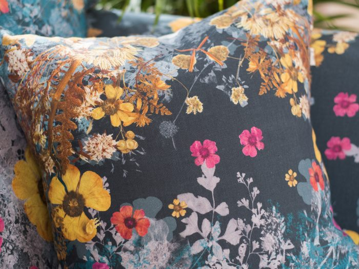 Wild Grasses Teal, 100% Irish linen cushion