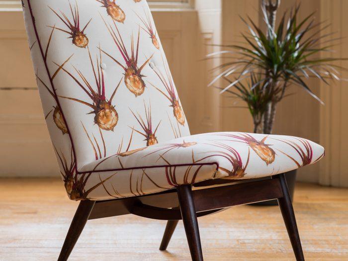 Egyptian Thistle linen union chair